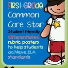 I'm a First Grade Common Core Star ELA Rubrics inc. licens