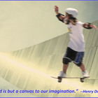 Imaginative Skateboarder Illustrates Thoreau Quote About I