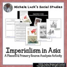 Imperialism 4-Thought Organizer Reading Guide & Primary So