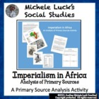 Imperialism of Africa 4-Thought Organizer Reading Guide &