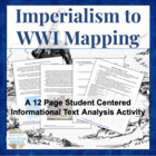 Imperialism to WWI Mapping Activity Geography Review
