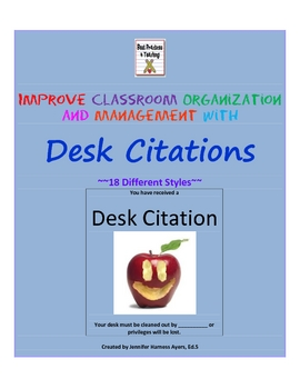 Improve Classroom Organization and Management With Desk Citations