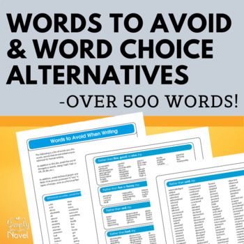 Improving Word Choice in Writing - Grades 6-12