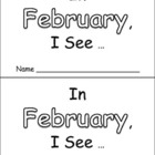 In February Emergent Reader Preschool Kindergarten Months