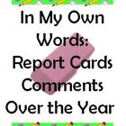 In My Own Words: Getting Started With Report Card Comments