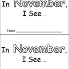 In November Emergent Reader Preschool Kindergarten Months