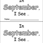 In September Emergent Reader Preschool Kindergarten Months