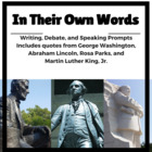 Figurative Language & Critical Thinking:  Lincoln,  Washin