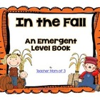 In the Fall Printable Sight Word Book Kindergarten
