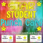 Incentive Punch Card - Star Student