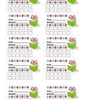 Incentive cards - Punch cards - (math, reading, behavior,