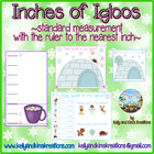 Inches of Igloos! {standard measurement with the ruler to