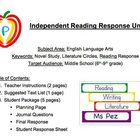 "Independent ""Any Novel"" Reading Response Plan with Journal"