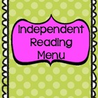 Independent Book Study - Menu Activities