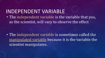 Independent & Dependent Variables, Controls, Constants, Hy