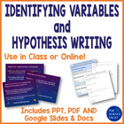Independent, Dependent Variables and Hypothesis Powerpoint