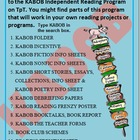 Independent Reading Program, nonfiction worksheets