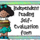 Independent Reading Self Evaluation Checklist **FREE**