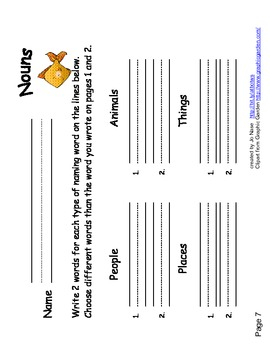 Independent Study Sheets...Nouns