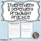 Independent and Dependent Probability Worksheet