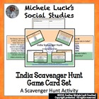 India Scavenger Hunt Game Card Set or Archeological Dig FUN!