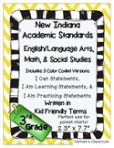 Indiana 2014 Standards 3rd Grade I Can Statements English/