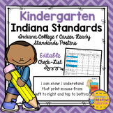 Indiana College and Career Ready Standards ~ Kindergarten ~