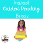 Individual Guided Reading Binders for Pre-k and Kindergarten