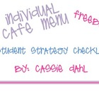 Individual Student CAFE Strategy Menu