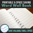Individual Student Word Wall Book