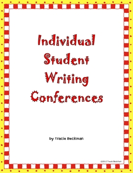 Individual Writing Conference Forms