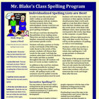 Individualized Spelling Program for Treasures Reading 2nd Grade
