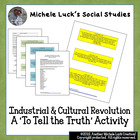 Industrial and Cultural Revolution To Tell Truth Role Card