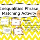 Inequalities Phrase Matching Activity