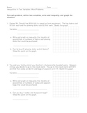 Inequalities in Two Variables Word Problems