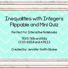Inequalities with Integers Flippable (Foldable) and Mini Q