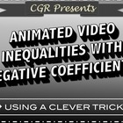 Inequalities with negative coefficients