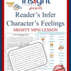 Inference Mini Lesson on Character&#039;s Feelings Reading Workshop