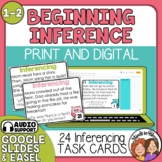 Inference Task Cards: 24 Short Story Cards for Grades 1-2.