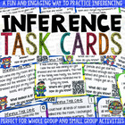Inference Task Cards + QR Codes {SUPERHERO Themed}