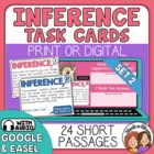 Inference Task Cards SET 2: 24 Paragraph Cards for CCSS.EL