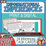 Inference Task Cards with Informational Text Paragraphs