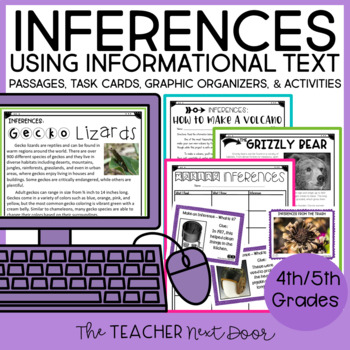 Inferences Using Informational Text: 4th and 5th Grade Common Core