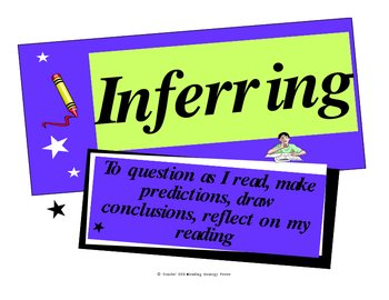 Inferring {Reading Strategy Poster}