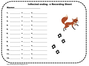 Inflected Ending -s matching game