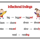 Inflectional Endings Poster- Meets Common Core Standard
