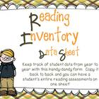 Informal Reading Inventory Data Sheet