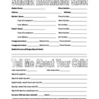 Information Sheet