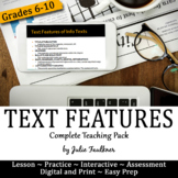 Informational Nonfiction Text Features Lesson, Games, & As