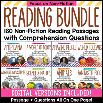 Informational Reading Passages with Comprehension Questions Bundle - All 160!
